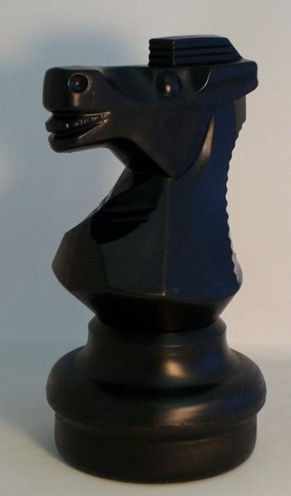 "Giant 25"" Garden Knight, Black Chessman"