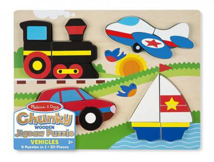 Vehicles Wooden Chunky Puzzle
