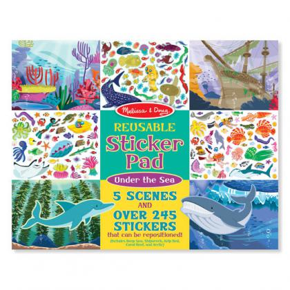 Reuseable Sticker Pad: Under the Sea