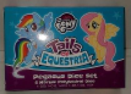 Tails of Equestria: Pegasus Dice Set: 6 Marble Poly Set